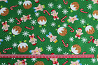Gingerbread candy canes Puddings CHRISTMAS  Fabric material 100% cotton