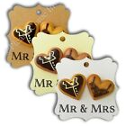 Elegant Square Thank You Wedding Favour Tags with Double Resin Bride & Groom