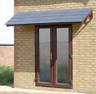 Brown Chalet Quad Door canopy  - Brown Frame with choice of roof tile colours