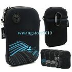Water Resistant Zipper Neoprene Case Pouch Sleeve Shoulder Bag for Cell Phone
