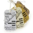 Personalised Thank you for Celebrating Our Special Day Wedding Favour Tags (Br)