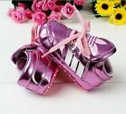 B003 Pink Blue Red White Toddler Pre-Walker Girls and Boys Anti-Slip Grip Shoes