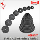 TOTAL 60KG CAST IRON WEIGHT PLATE SET - ENERGETICS WEIGHT PLATES SET