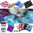 Pet Dog Cat Soft Cosy Warm Fleece Bed Car Blanket 2 Sizes 70 x 70cm,100 x 150cm
