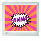 Personalised ANY GIRLS NAME Pop Art Black out Roller Blinds Custom print Photo