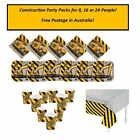 Construction Party Pack 8 16 or 24 Cups Plates Napkins Tablecover Free Post