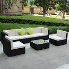 Brand New 7 Piece 3-7 Piece Patio PE Rattan Wicker Sofa Sectional Furniture Set cheap