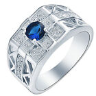 Women 925 Silver White Sapphire Jewelry Ring Engagement Bridal Finding size6-10