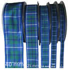 Douglas Tartan Ribbon - various widths, cut lengths and 25m reels