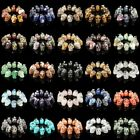 hand carved natural gemstone crystal healing charm beads skull pendant 16mm 30mm