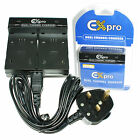 Ex-Pro NP-BY1 Dual Battery Digital Camera Charger for Sony Action Cam Mini AZ1