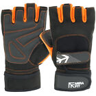MIRAFIT Weight Lifting Gloves Body Building Training Workout Gym Padded HD Mens