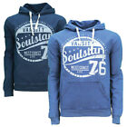 Mens Soulstar Indigo Dyed Long Sleeve Sweatshirt Designer Hooded Casual Top