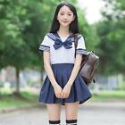 Japanese High School Girl Sailor Uniform Short Sleeve Dress Suit Cosplay Costume