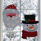 Lighted Holiday Santa Or Snowman Winter Wall/Window Hanger Christmas Decoration
