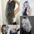Stylish Grey Synthetic Flip IN Wavy Straight Secret Miracle Wire Hair Extension
