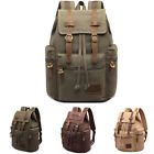 Collector Retro Canvas Backpack Travel Sport Rucksack Satchel Hiking School Bag