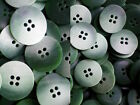 18mm 23mm Green & Light Green Brush Patterned Jacket 4 Hole Buttons (W243-W244)