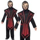 Kids Ninja Samurai Warrior Soldier Assassin Fancy Dress Costume Age 7 - 12 years