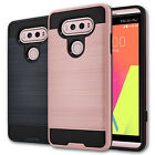 Brushed Metal Texture Hybrid Dual Layer Slim Protector Cover Case for LG V20
