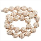 10/50pcs New Fashion 10 Colors Carved Circles & Sun Charms Spacer Beads Findings