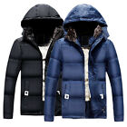 Herren Winter Warm Jacke Mit Kapuze Schnee Verdicken FLEECE Mantel Parka-mantel