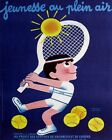 VINTAGE FRENCH TENNIS POSTER PRINT