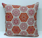 Terracotta/Burnt Orange Mosaic/Moraccan Geo Style Filled Cushion Various sizes