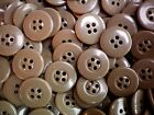 18mm 28L Toffee Brown 4 Hole Craft Scrapbook Button Buttons 100 Pack SC2
