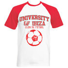NEW University of Ibiza: Vintage Football Men's T-shirt White Red RRP £40