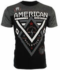 AMERICAN FIGHTER Mens T-Shirt ALASKA PATTERN Biker ELEPHANT PRINT Gym UFC $40 image
