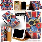 For Samsung Galaxy S2 S3 S4 S5 S6 S7 -Leather Stand Flip Wallet Cover Phone Case