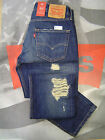 LEVI'S 511 MEN'S SLIM FIT LOW RISE ZIP FLY DESTRUCTED JEANS WHEATER