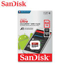 NEW SanDisk Ultra 16GB 32GB 64GB A1 Micro SDHC/SDXC Card UHS-I C10 Full HD Video