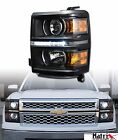 FOR 2014-2015 SILVERADO 1500 BLACK DRL LED PROJECTOR HEAD LIGHTS SIGNAL AMBER DY