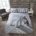 Winter Polar Bear Christmas Duvet Quilt Cover Bedding Set