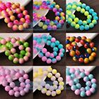 New Round Glass Loose Spacer Colorful Beads 6mm 8mm 10mm 12mm Wholesale Bulk