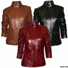 Ladies Fitted Real Leather Casual Jacket Gorgeous Soft Nappa