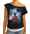 "Ozzy Osbourne ""Scream Official Tour"" women's cropped  raw edge off-shoulder top"