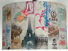 French Eiffel tower Shabby Chic Lampshade, Ceiling Pendant,Table Lamp