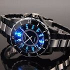 OHSEN Men's LED Changing Color Stainless Steel Sports Waterproof Quartz Watch US