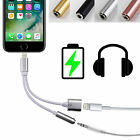 2in 1 Lightning to 3.5mm Headphone Jack Adapter Charge Cable For iPhone 7 7 Plus