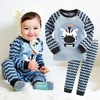 "Vaenait Baby Toddler Kids Boys Clothes Sleepwear Pajama Set ""Blue Rookie"" 12M-7T"
