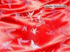 Chinese Silk Brocade Fabric Butterfly Design Exotic