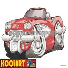 Koolart Cartoon Corvette Vette C1 Convertible Red - Mens Gifts (3245)