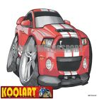 Koolart Cartoon Ford Mustang Shelby GT500 Super Snake Red - Mens Gifts (3291)