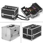 Abody Female Makeup Case Jewelry Storage Box Cosmetic Tool Organizer Silver W8L2