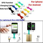 Keyring OTG Micro USB Data Transfer Charging Adapter fr iPhone Samsung