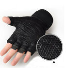 Weight lifting Gym Gloves Training Fitness Wrist Wrap Workout Exercise Sports WT