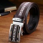 New Men's Business Waistband Leather Automatic Buckle Pearl Pattern Belt Fashion